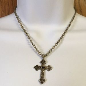 Jewelry - Antiqued cross and sturdy chain